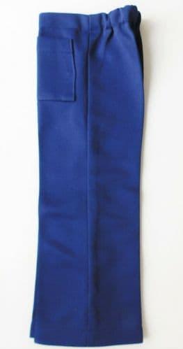 Vintage childrens trousers Age 3 boy girl dark blue Crimplene UNUSED 1960s 1970s